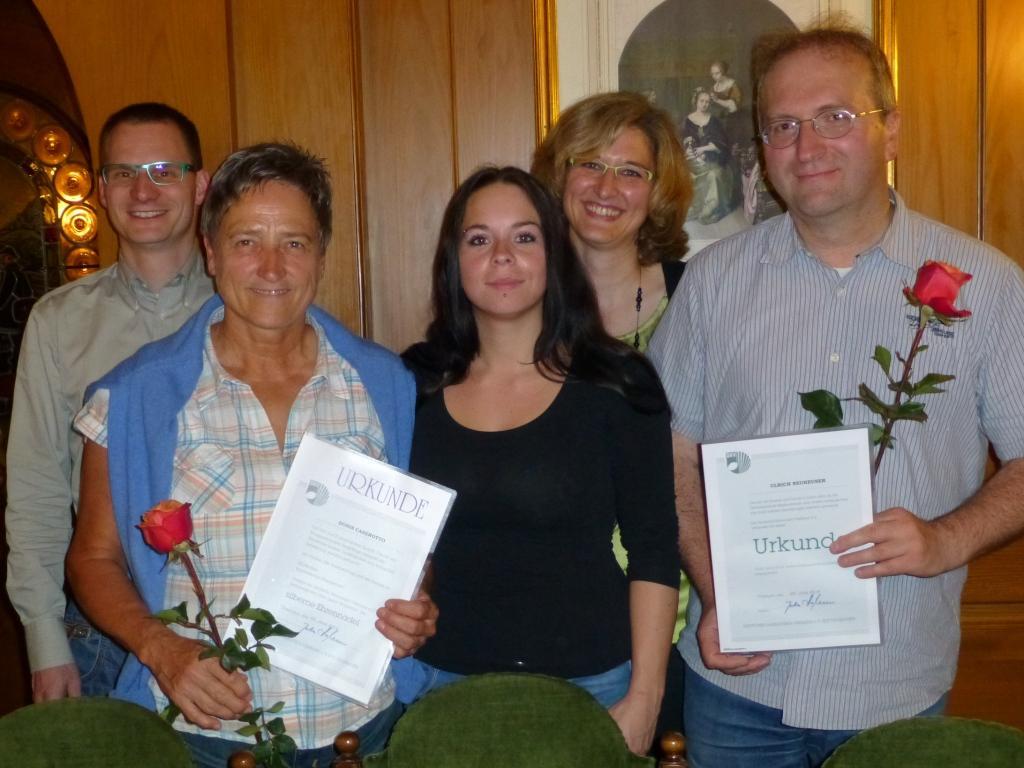 Mark Auer, Doris Caserotto, Tatjana Schmid, Martina Stoffel und Ulrich Neuheuser